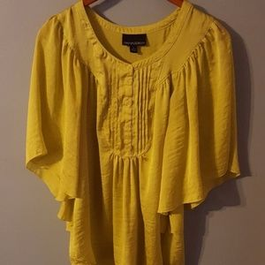 Tunic Pullover Wing Sleeve Top Size Small